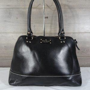 Kate Spade Black Leather Satchel Tote Handbag